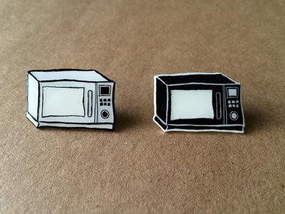Microwave Logo Enamel Pin *GLOW IN THE DARK* main photo