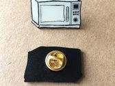 Microwave Logo Enamel Pin *GLOW IN THE DARK* photo