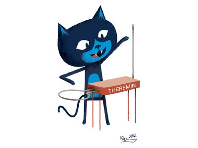 Theremin Kitty 8x10 Print main photo