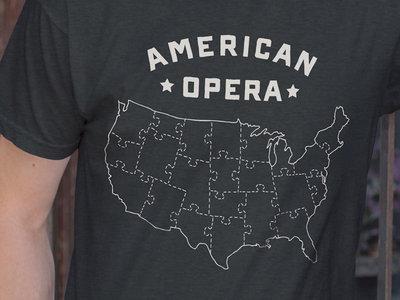 American Opera Jigsaw Puzzle Map T-Shirt main photo