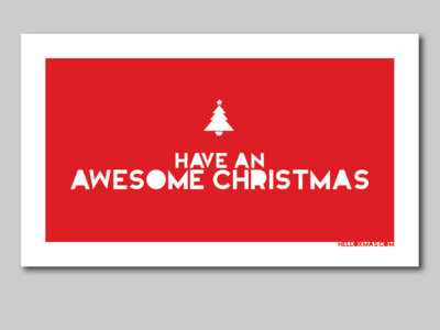 'Awesome Christmas' Small Cards (30 pk) main photo