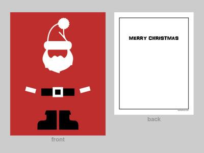 'Minimalist Santa' Cards (12 pk) main photo