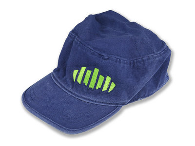 Blue Baseball Hat with Zipper Pocket main photo
