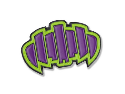 Green/Purple Palindrome Pin main photo