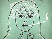 Portrait Line Drawing Short-Sleeve Tee (mint green) photo