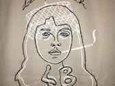 Portrait Line Drawing Short-Sleeve Tee (khaki) photo