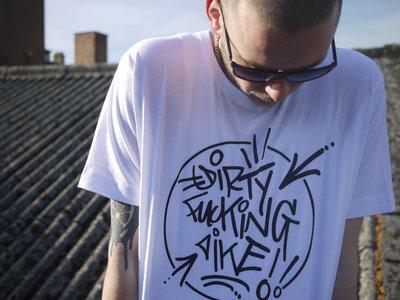 """Dirty fucking Dike"" Mk.2 Original Hand style T-shirt. main photo"