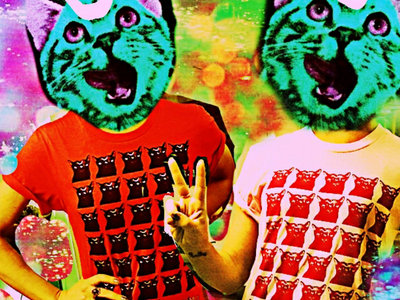 Mutant Moon Cat T-Shirt [Red] main photo