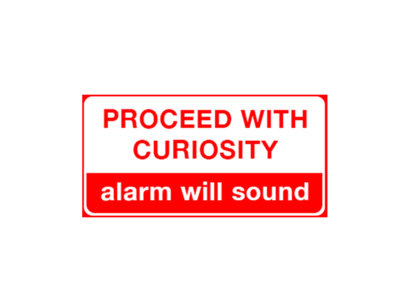Proceed with Curiosity Sticker main photo