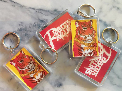 "Two-Sided ""Wild Style"" Tiger/Logo Keychain main photo"