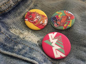 "3pc. ""Wild Syle"" 1½ inch Buttons Set photo"