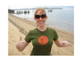 """Mike Errico Limited Edition """"Antenna"""" Women's T, Green photo"""