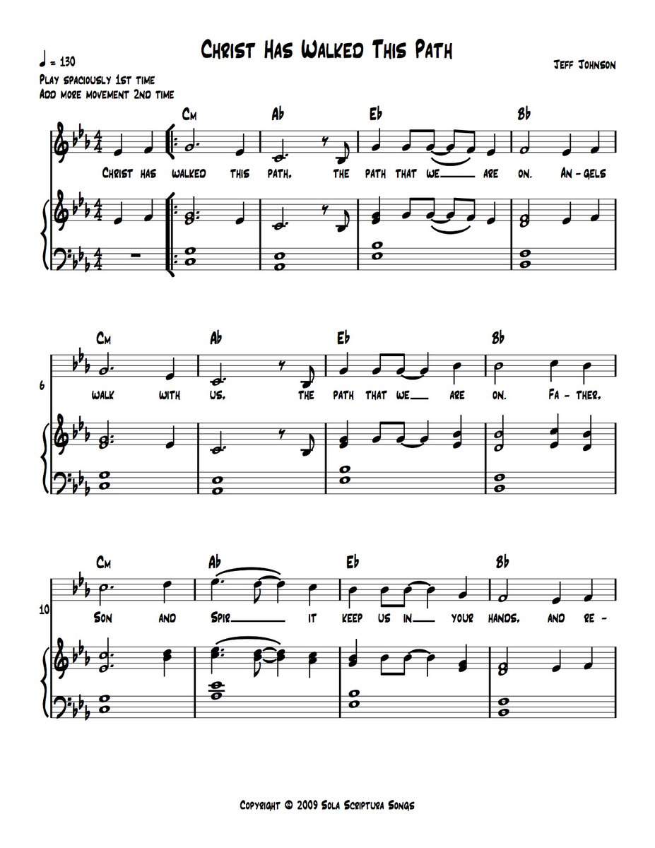 Christ Has Walked This Path (Song) Sheet Music   Jeff Johnson