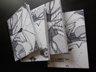 A5 Spiral Notebook feat. Slavaki - Escalator EP artwork by Sam Crew main photo
