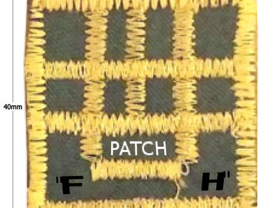 MERCH: cloth patch, 4cm x 4cm main photo