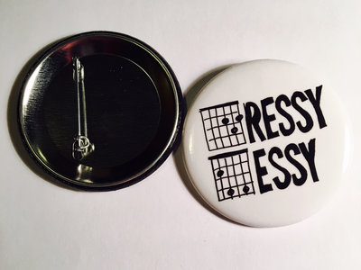 2 1/4 inch Button / Badge - White Fret Logo main photo