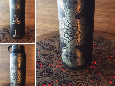 Hand Etched Water Bottle from Phil Lewis Art main photo