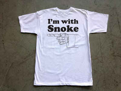 "Steele Wars ""I'm With Snoke"" white t-shirt (APPROX $19 AMERICAN) main photo"