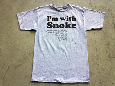 """Steele Wars """"I'm With Snoke"""" grey t-shirt (APPROX $19 AMERICAN) main photo"""