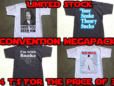 STEELE WARS CONVENTION MEGA PACK! 4 T-Shirts for the price of 3! Approx $55 USD main photo