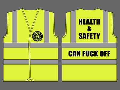 BANGFACE Hi-Viz Vest - HEALTH & SAFETY CAN FUCK OFF main photo