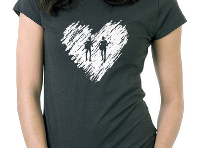 Ryanhood Heart T-Shirt - Dark Heather Green (Women's Only) main photo