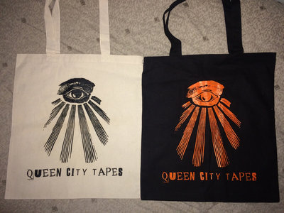 Queen City Tapes All Seeing Eye Tote Bag main photo