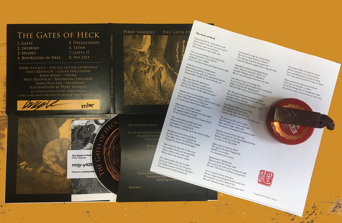 The CD is illustrated by Perry Vasquez including a chop-stamped insert with lyrics and more artwork. Includes unlimited streaming of The Gates of Heck via ...