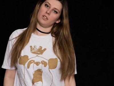 "Gold-on-White ""Panda King"" Tee main photo"