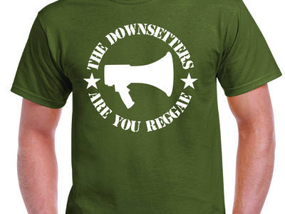 ARE YOU REGGAE? ARMY GREEN  T SHIRT main photo