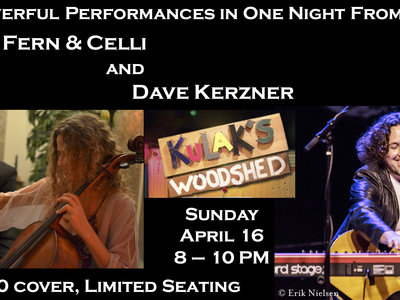Dave Kerzner (Acoustic) & Fern n' Celli Live At Kulak's Woodshed in LA 4/16/2017! main photo