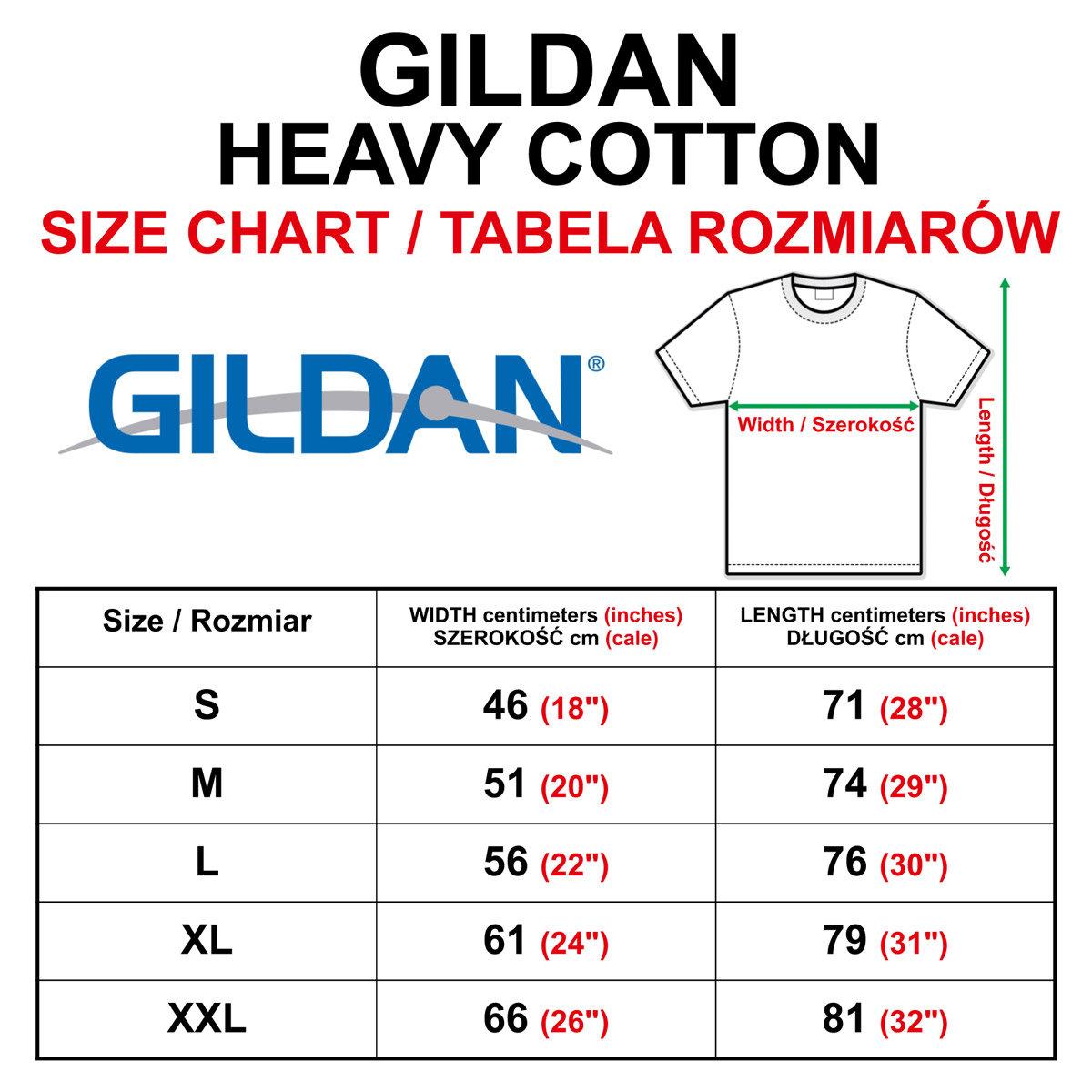 T Shirt Size Chart: Gildan Heavy Cotton T Shirt Size Chart