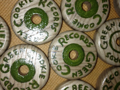 Green Cookie records 7inch adapter, wooden, handmade, only 33 copies main photo