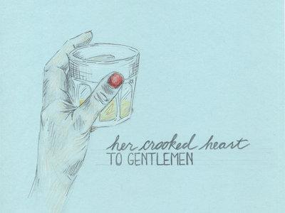 TO GENTLEMEN: Raise a glass! Original freehand drawing. No two alike. main photo