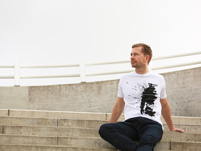 Rhythm of life T-shirt (black print on white t-shirt) main photo