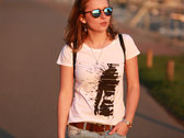 Rhythm of life Girl´s T-shirt (black print on white t-shirt) photo