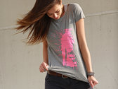 Rhythm of life Girl´s T-shirt (pink print on gray t-shirt) photo