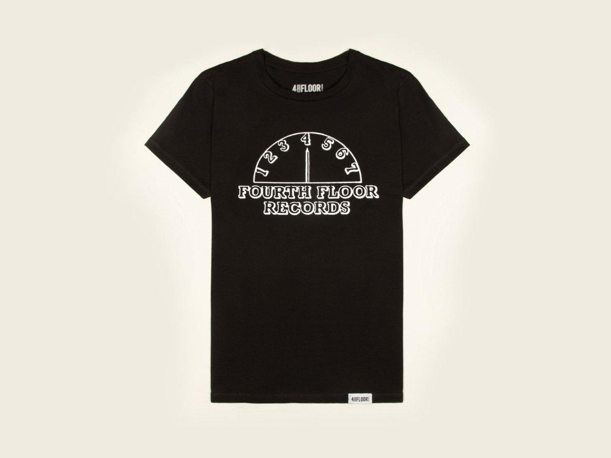 Fourth Floor Records   Mens Black T Shirt