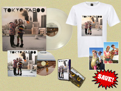 6th Street Psychosis LP (Exclusive Ice White Vinyl) + CD Album + Limited Edition Gold Glitter Cassette + Album Artwork T-Shirt + Two Exclusive Signed Art Prints main photo
