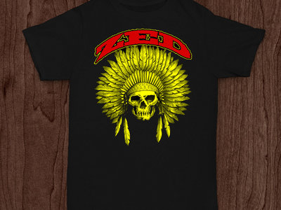 Mens Indian Head T-Shirt - Yellow/Red main photo