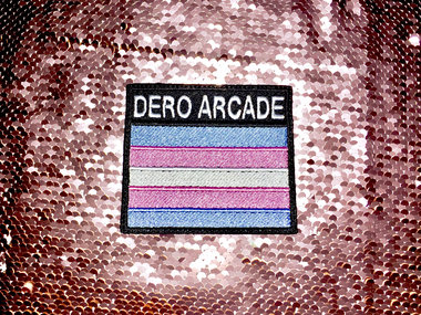 """DERO ARCADE """"TRANS PRIDE"""" SEW-ON EMBROIDERED PATCH main photo"""