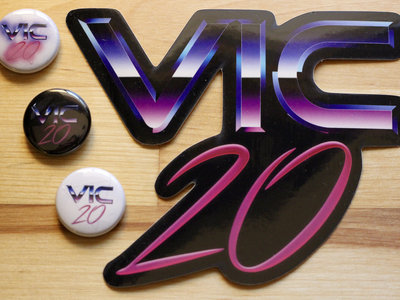 "Vic 20 Button Pack w/ 5"" Vic 20 Sticker main photo"