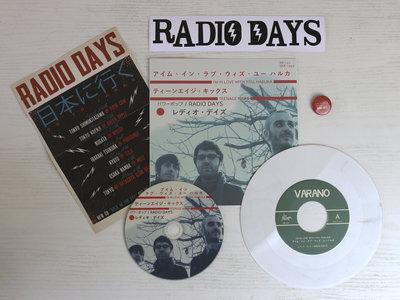"Haruka SIGNED vinyl 7"" + CD + Poster + Pin + Sticker main photo"