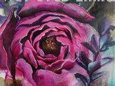 Flower painting shirt photo