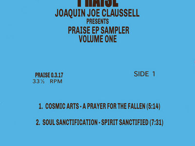 "PRAISE EP SAMPLER VOLUME 1 - 12"" VINYL RELEASE main photo"