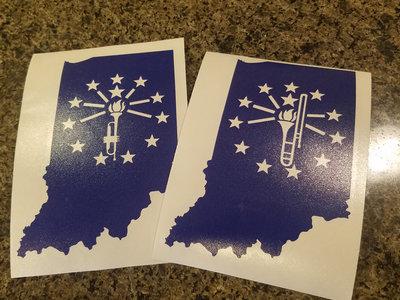 Indiana Flag Window Sticker main photo