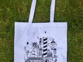 Numbers Boat Party Tote Bag (White/Black) photo