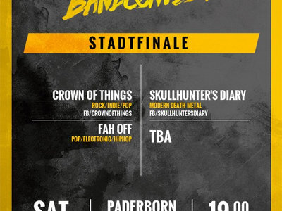 Ticket SPH Bandcontest 2017 // Stadtfinale Paderborn 17.06.17 (inkl EP) main photo