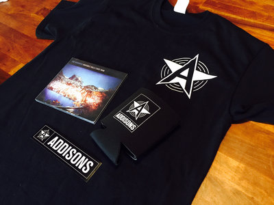 Addisons Logo Shirt + Invisible Falls State Park CD + Beer Koozie + Sticker main photo