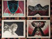 Falling Down Across the Sky - Original Drawing + Print Series + Digital Album photo